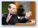 Sydney Brenner is speaking ...